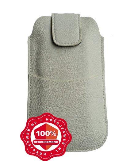 HEM iPhone 5/5S/5C Wit insteekhoesje met riemlus en opbergvakje