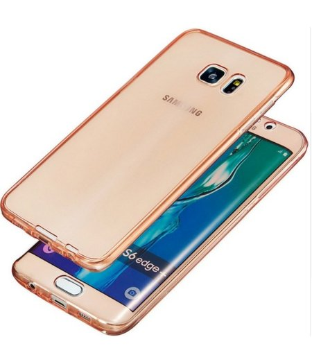 HEM Galaxy S7 SM-G930 Full protection siliconen roze transparant voor 100% bescherming