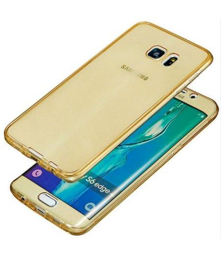 HEM Galaxy S6 Full protection siliconen goud transparant voor 100% bescherming