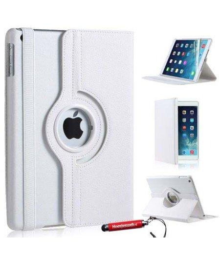 HEM Witte iPad mini 4 360 graden draaibare ipad hoes met uitschuifbare Hoesjesweb stylus