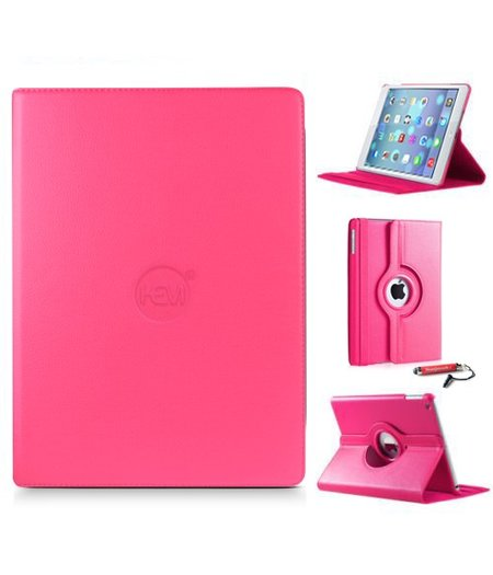 HEM iPad hoes 2/3/4 HEM Cover hard roze met uitschuifbare Hoesjesweb stylus