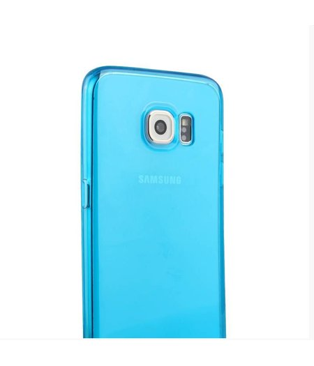 HEM Blauw Siliconenhoesje Samsung Galaxy S6 Edge SM-G925