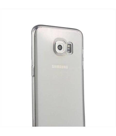 Zwart Transparant Siliconenhoesje Samsung Galaxy S6 Edge SM-G925