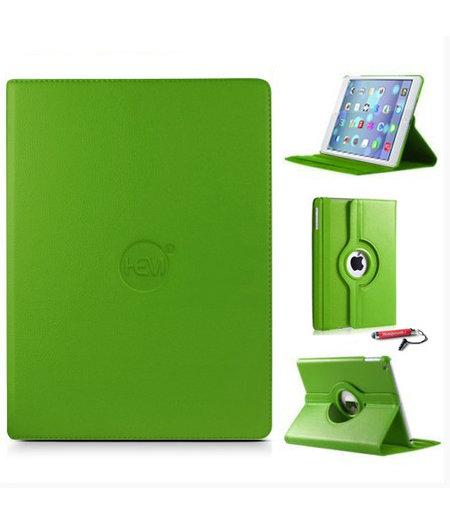 HEM Groene 360 graden draaibare hoes iPad Air 2 met uitschuifbare Hoesjesweb stylus