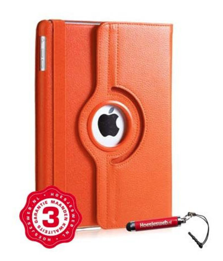 HEM Oranje 360 graden draaibare hoes iPad mini 1/2/3 met gekleurde stylus pen