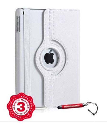 HEM iPad Pro 12.9 hoes wit met extra stabiliteit en kleurvastheid en uitschuifbare Hoesjesweb stylus