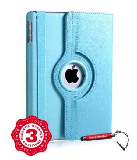 HEM iPad Pro 12.9 hoes lichtblauw met extra stabiliteit en kleurvastheid en uitschuifbare Hoesjesweb stylus