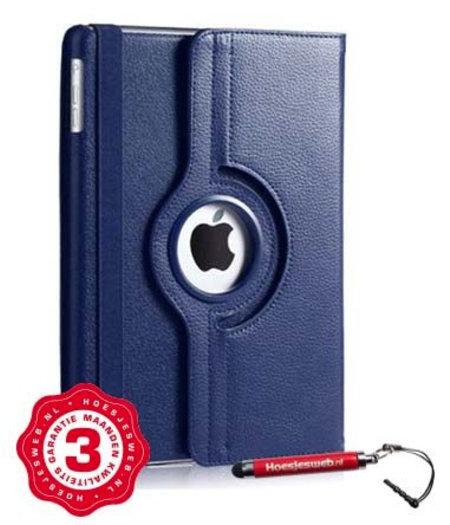 HEM iPad Pro 12.9 hoes donkerblauw met extra stabiliteit en kleurvastheid en uitschuifbare Hoesjesweb stylus