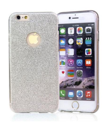 Zilveren Switch Glitter hoesje iPhone 5/5S/SE anti Shock 1000 in 1 hoesje