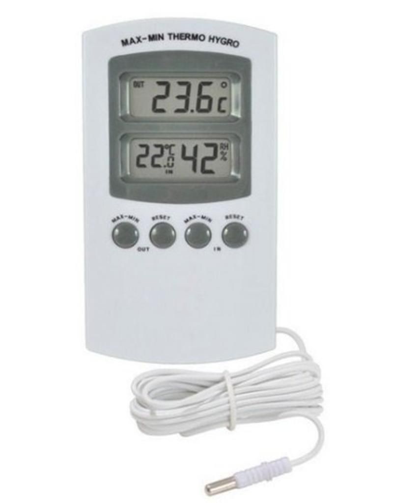 Thermo / Hygrometer Digitaal (Externe sensor) incl. batterij