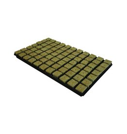 Grodan Steenwoltray 4x4 cm 77 st. p/tray 18 trays p/doos
