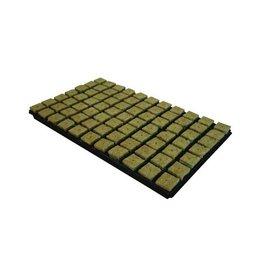 Grodan Steinwolle Tray 4x4 cm 77 st. p/tray 18 trays P/box