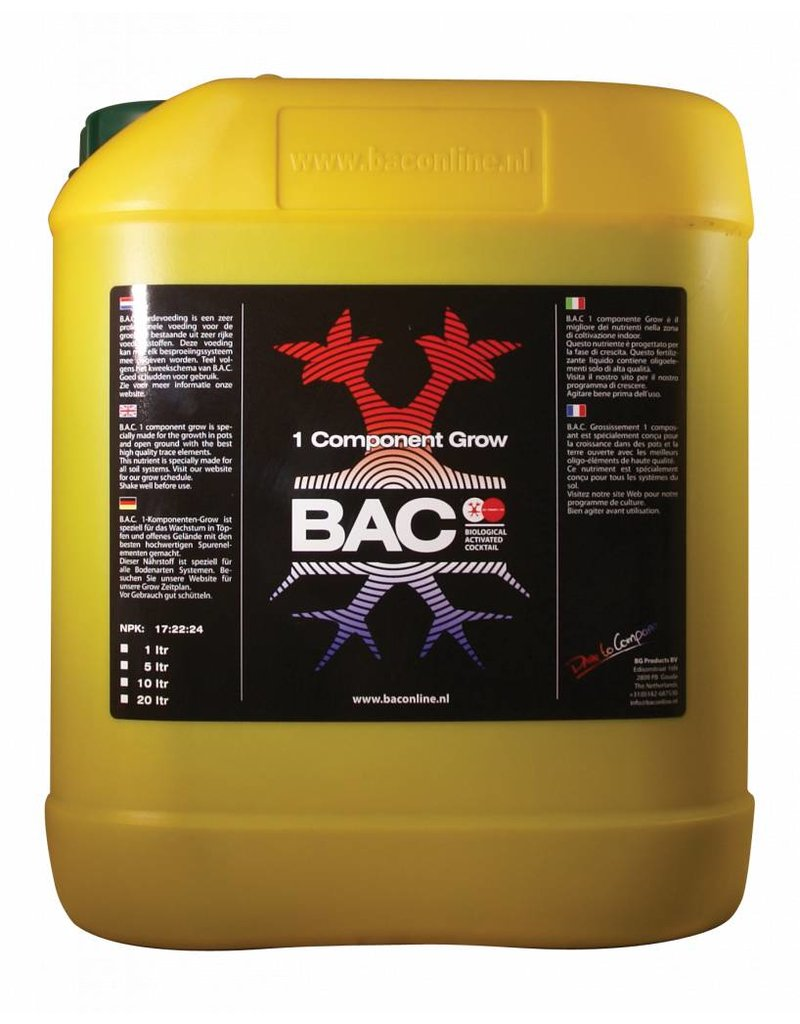 B.A.C. 1 component Groei 5 ltr