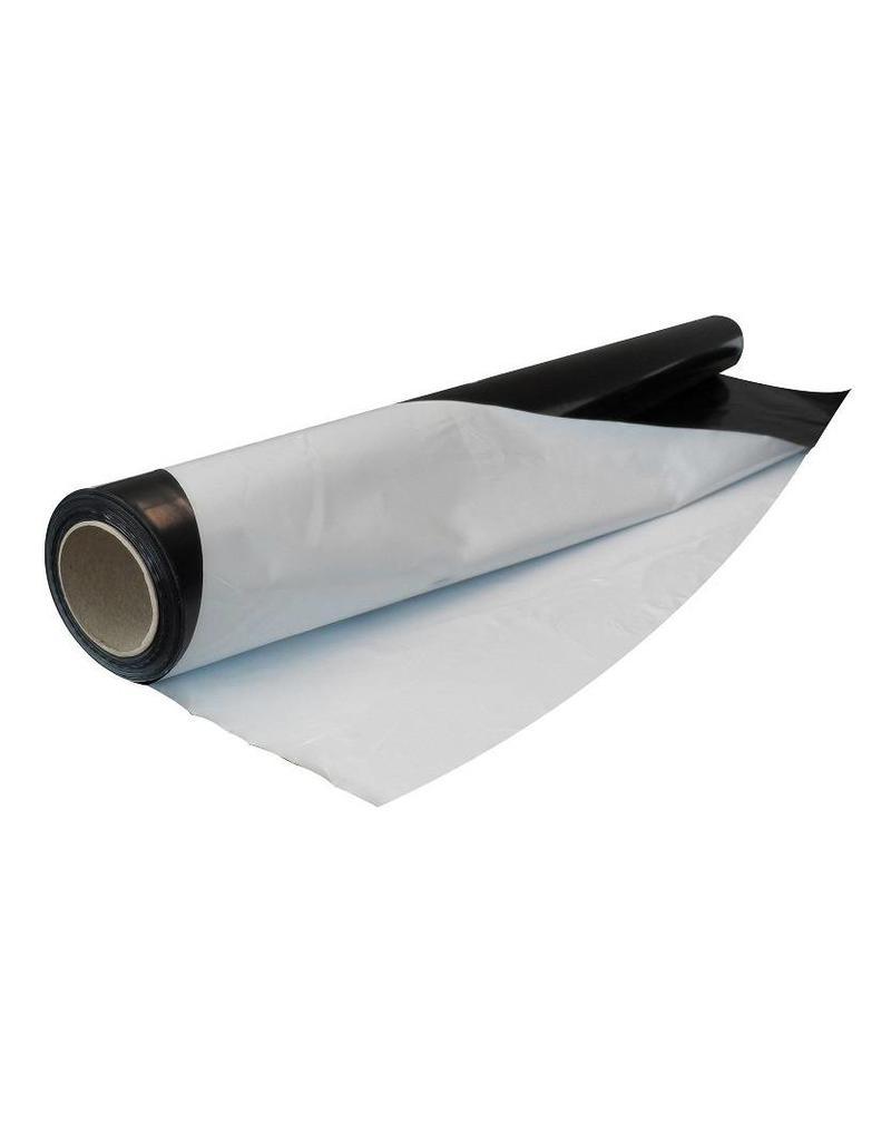 Zwart/wit folie op rol 2x50 mtr