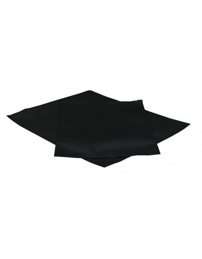Aluminium strijkzak klein zwart 30x43 cm