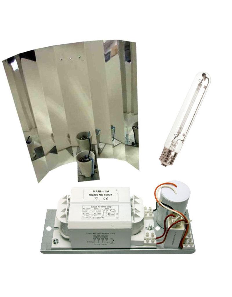 600 W - Mari - Platinum - Spiegelkap Kweeklamp set