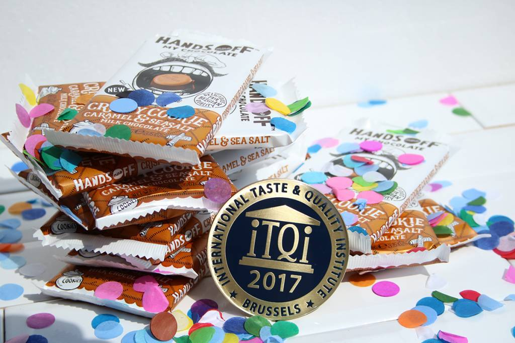 Chocoladehit Crispy Cookie Caramel & Sea Salt bekroond met iTQi Superior Taste Award