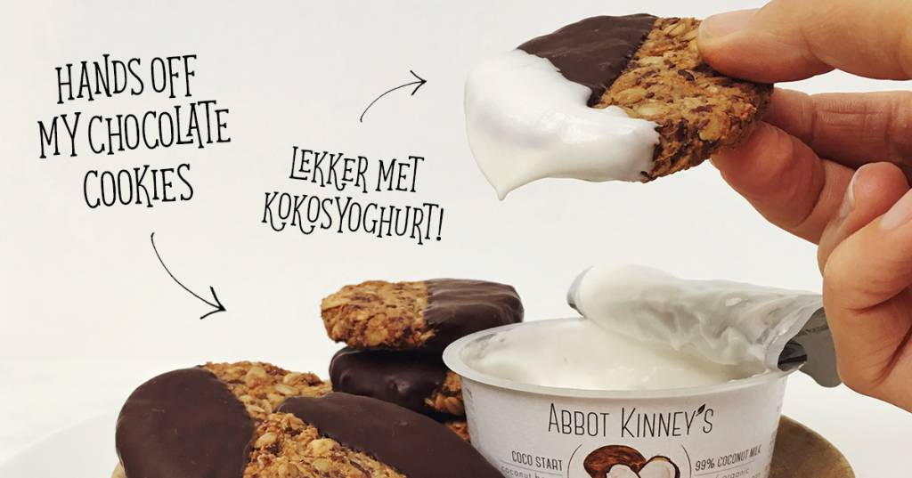 RECEPT: Hands Off My Chocolate dipped granola cookies met Abbot Kinney's Coco Start