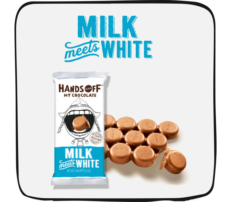 Milk Meets White per box (12 bars)