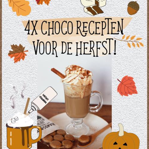 4 supermakkelijke choco recepten voor herfstige dagen!