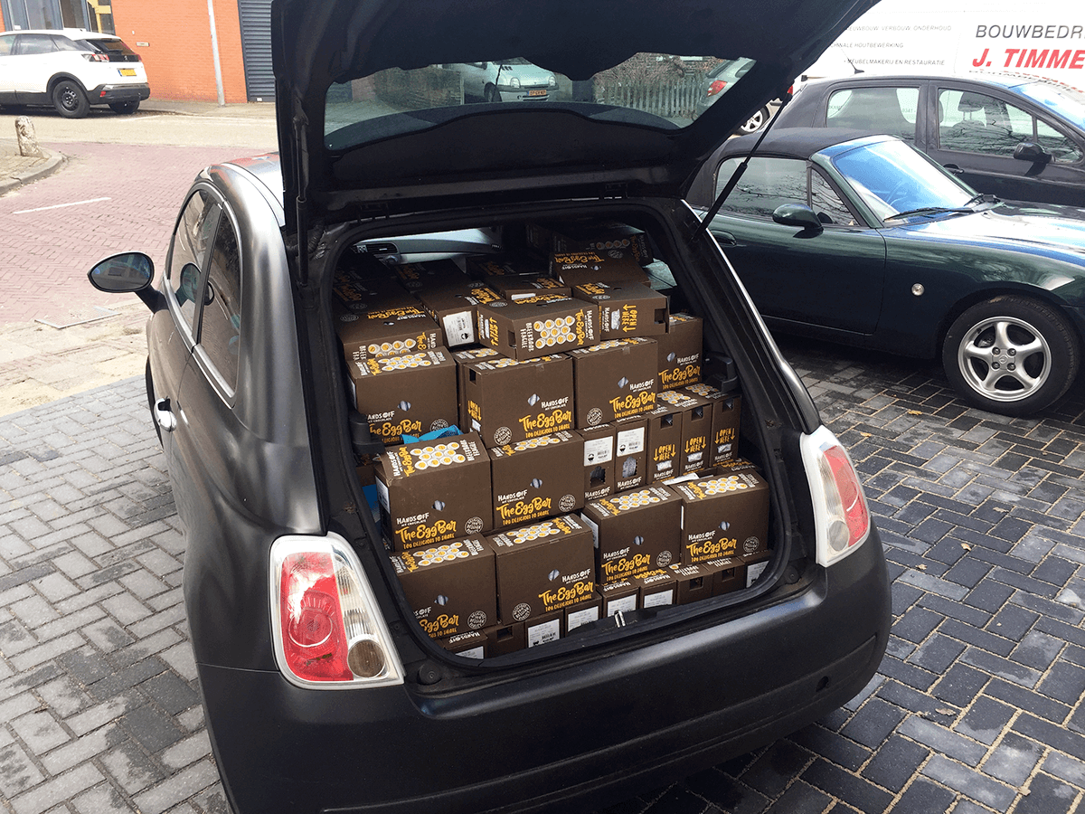 Chocolade in auto