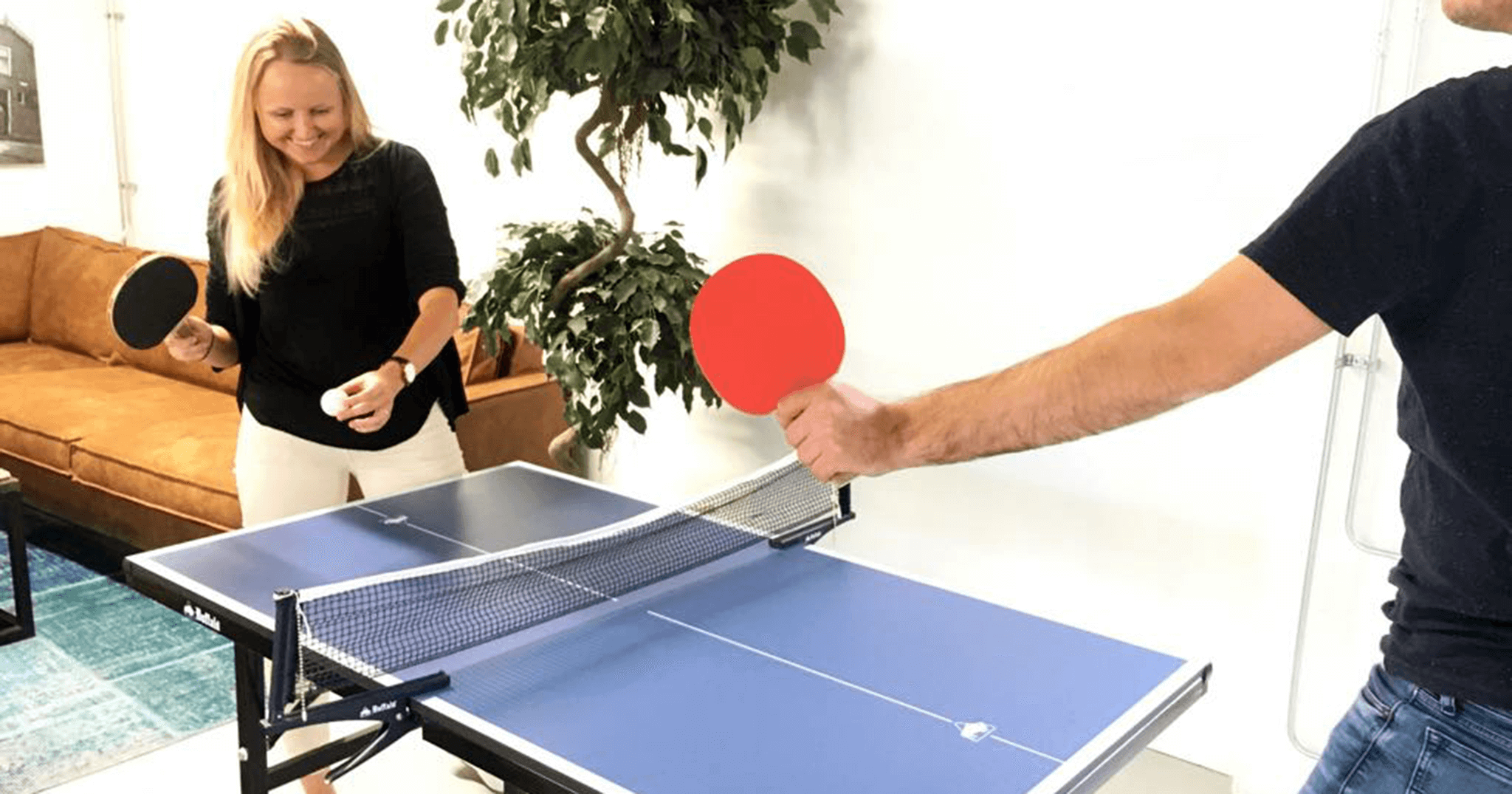 ping pong tafeltennis lunch
