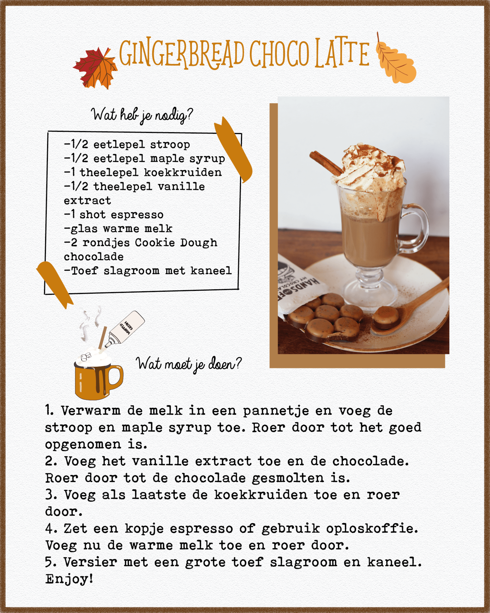 Gingerbread Choco Latte
