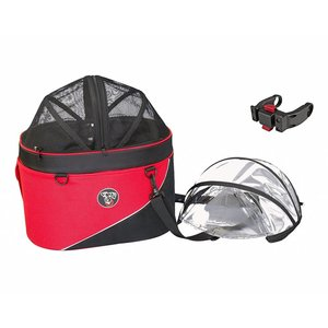 DoggyRide Hondenfietsmand Cocoon 3 in 1 Rood