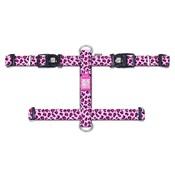 Hondentuig H-Harnas Leopard Pink