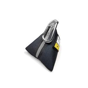 Max & Molly Silver Poo bag triangle