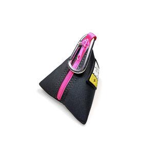 Max & Molly Pink Poo bag triangle