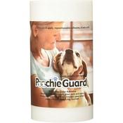 De PoochieGuard zorgt voor minder krassen en beschadigingen op ramen en deuren.