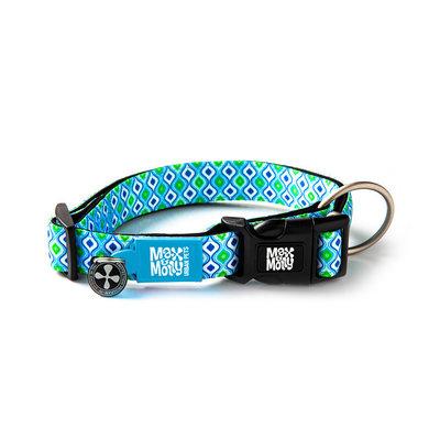 Max & Molly Hondenhalsband Retro Blue