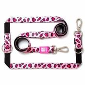 Hondenriem Multi Leopard Pink