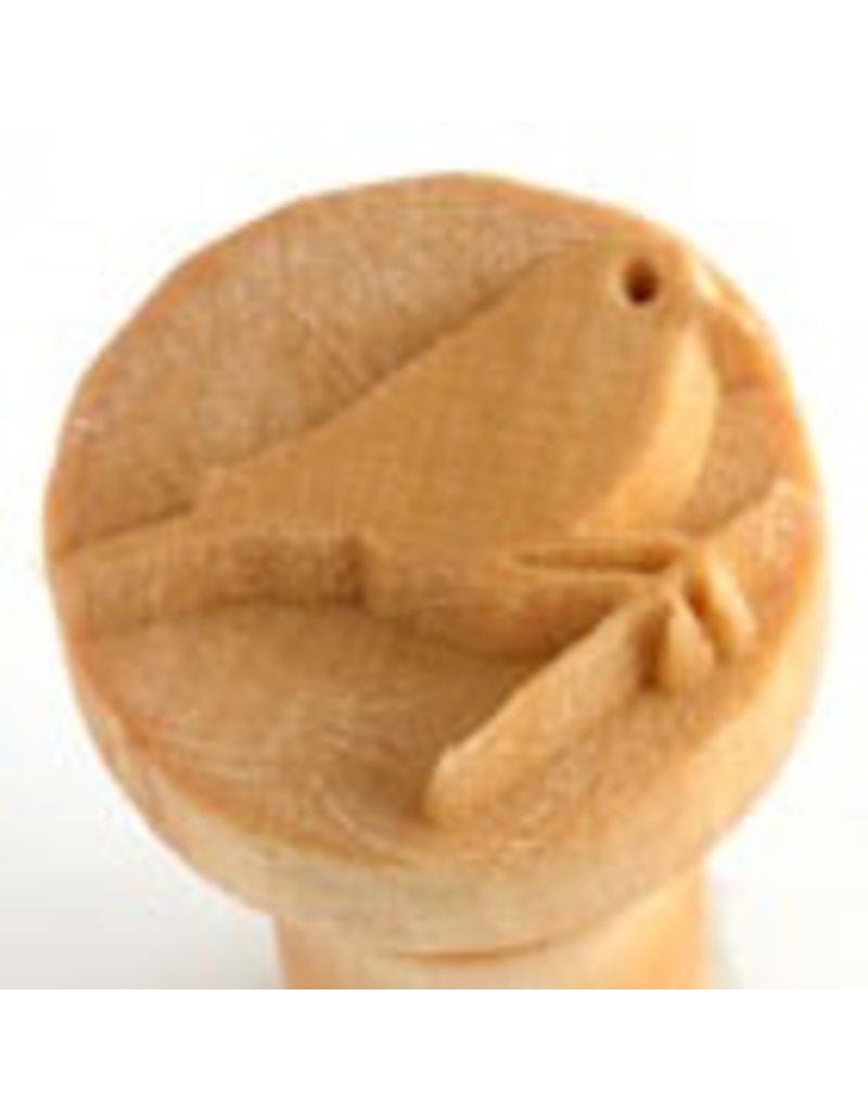 Bird on twig stamp (2.5cm)