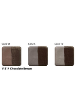 Amaco Amaco Velvet V314 Chocolate Brown underglaze 59ml