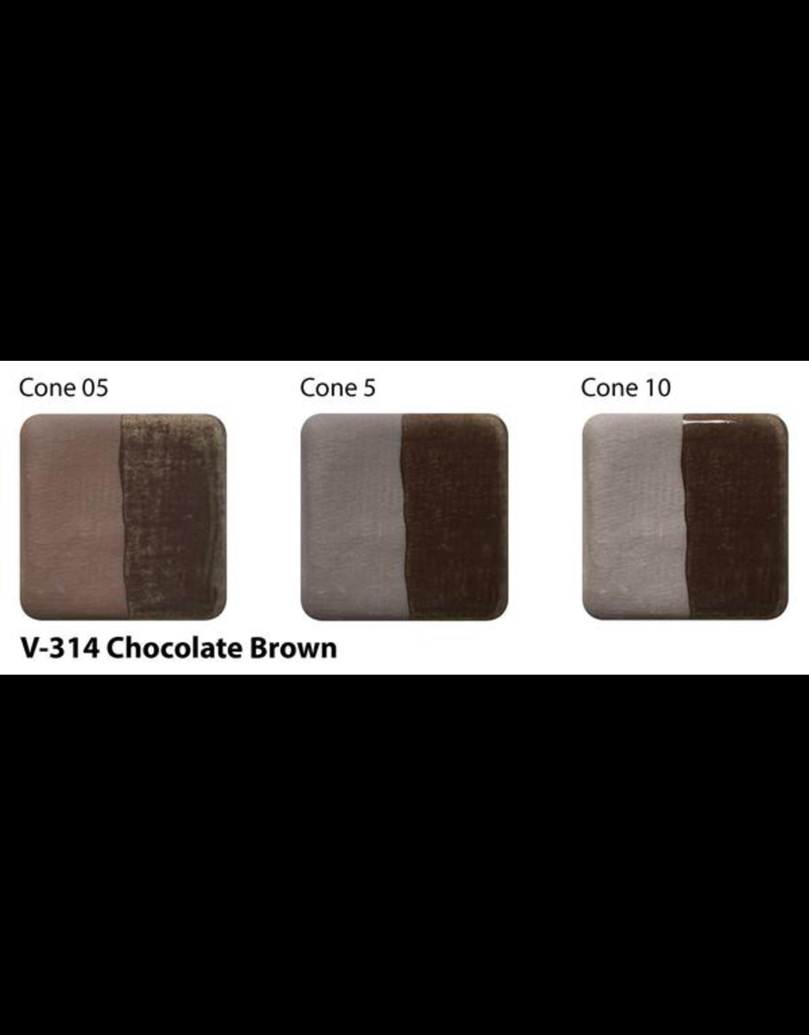 Amaco Amaco Velvet V314 Chocolate Brown Underglaze - 59ml