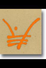 Brilliant orange  Underglaze pen