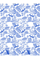 Sanbao Birds & Leaves (underglaze decal - 16cm x 22cm)