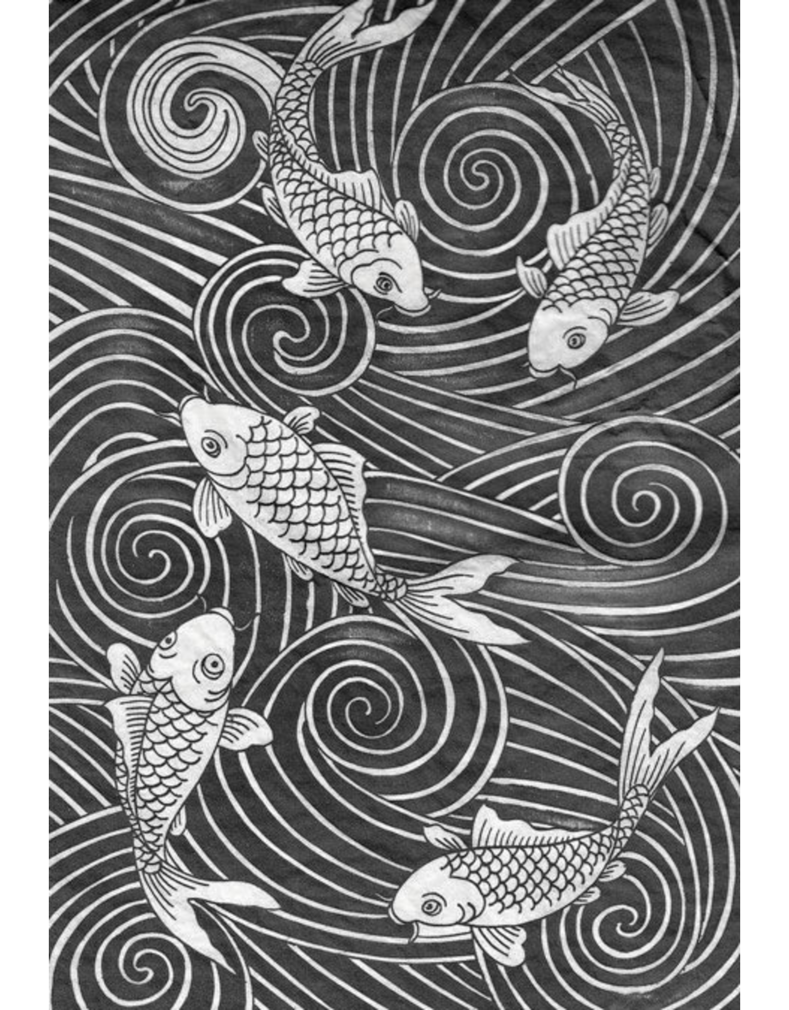 Sanbao Carp decal 2 (underglaze decal - 16cm x 22cm)