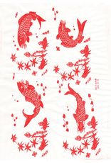 Sanbao Carp decal 4 (underglaze decal - 16cm x 22cm)