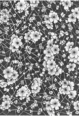 Sanbao Cherry flower decal 3 (underglaze decal - 16cm x 22cm)