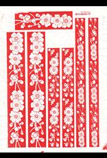 Sanbao Cherry flower decal 6 (underglaze decal - 16cm x 22cm)