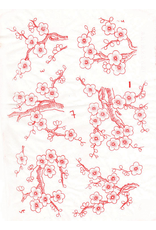 Sanbao Cherry flower decal 7 (underglaze decal - 16cm x 22cm)