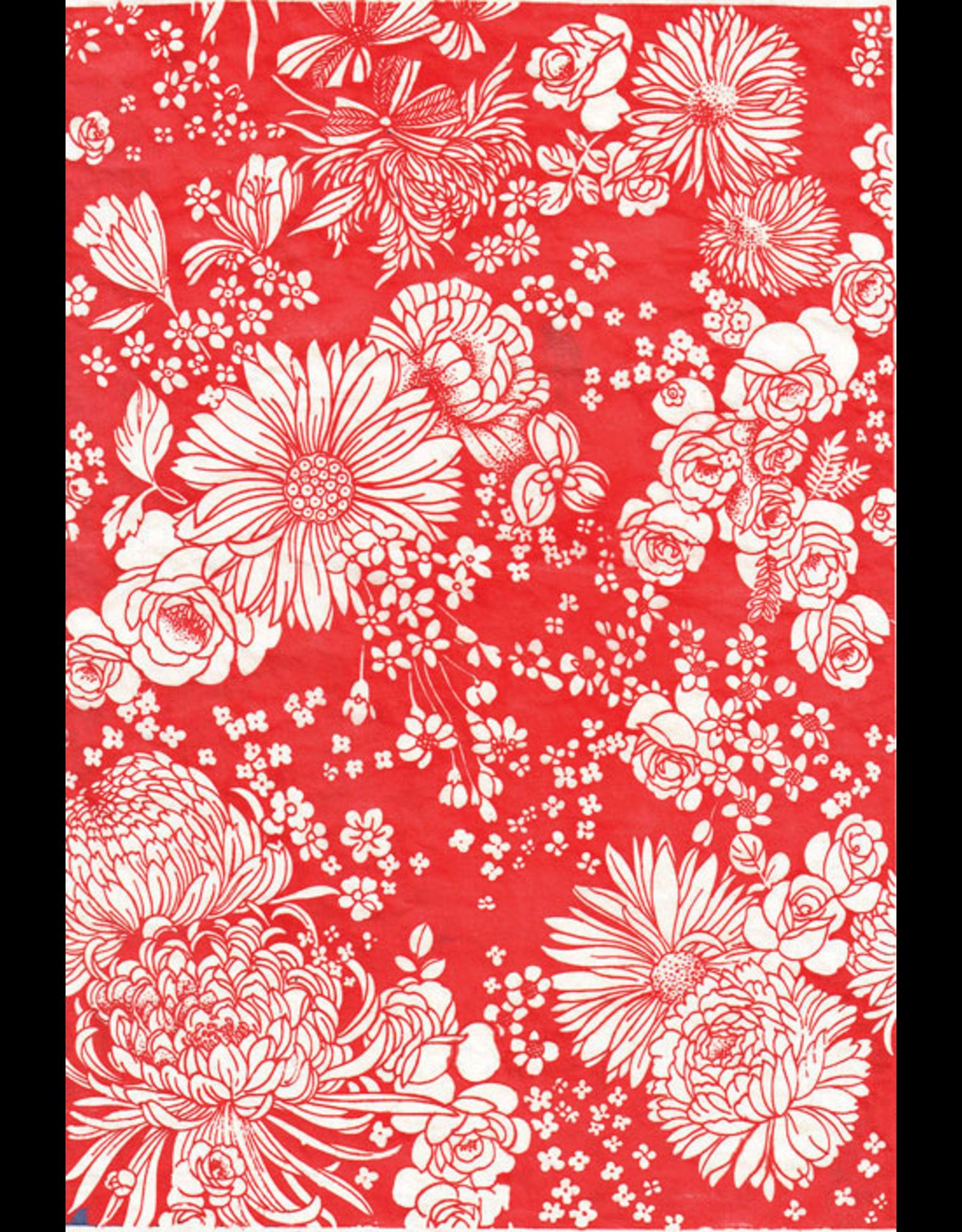 Sanbao Flower decal 01 (underglaze decal - 16cm x 22cm)