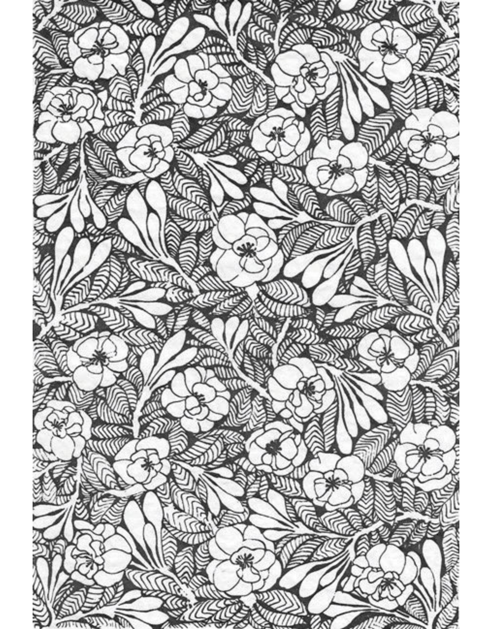 Sanbao Flower decal 04 (underglaze decal - 16cm x 22cm)