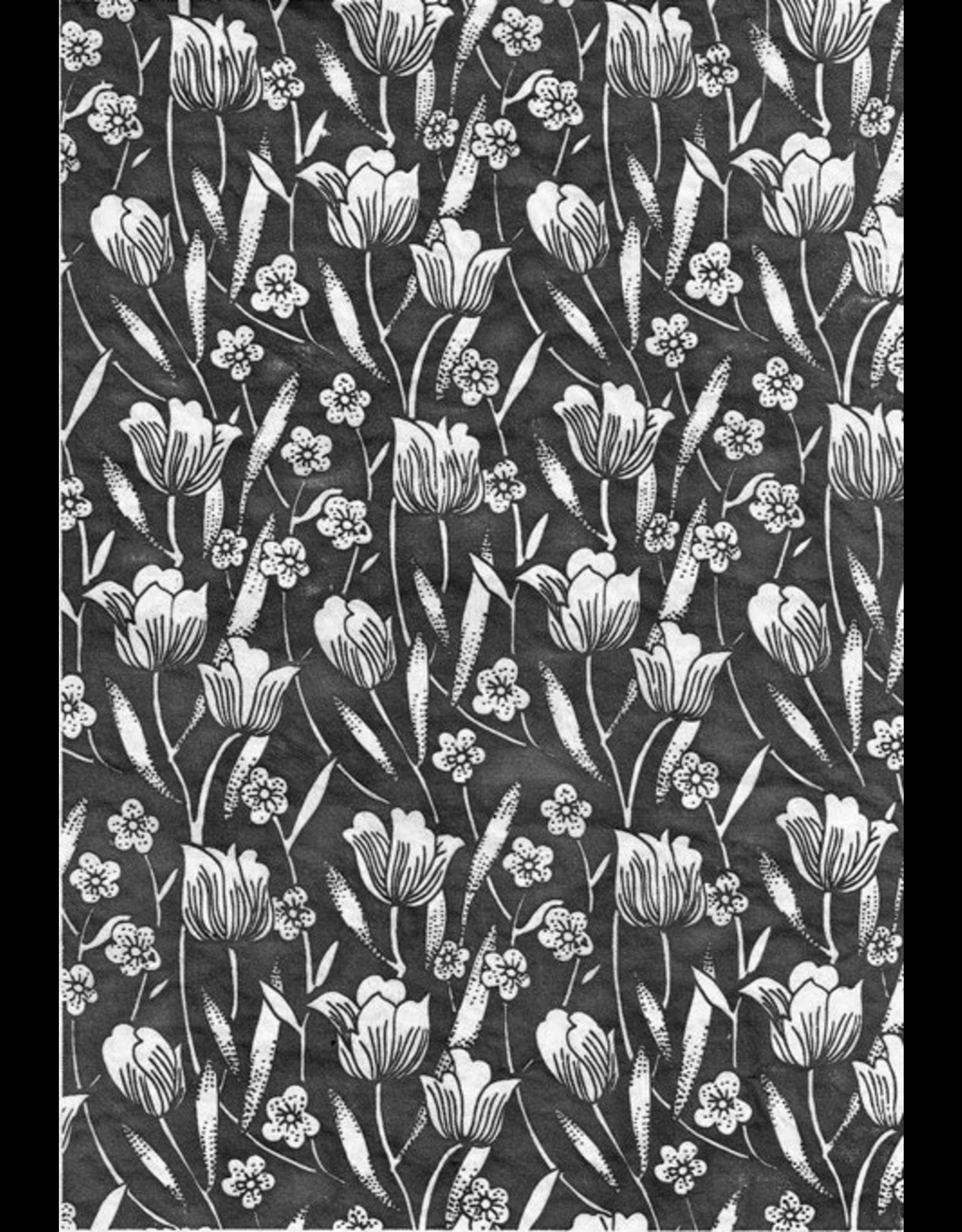 Sanbao Flower decal 08 (underglaze decal - 16cm x 22cm)