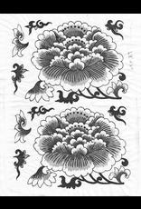 Sanbao Flower decal 10 (underglaze decal - 16cm x 22cm)