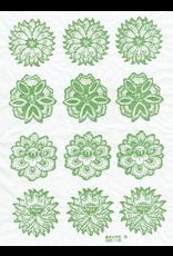 Sanbao Flower decal 14 (underglaze decal - 16cm x 22cm)