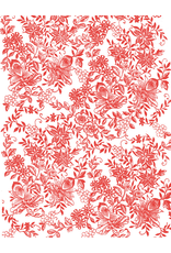 Sanbao Flower decal 16 (underglaze decal - 16cm x 22cm)